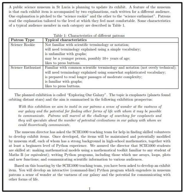 astrophysics assessment help