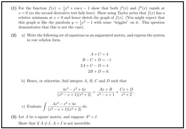 precalculus assessment help