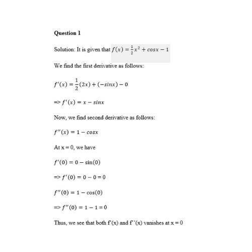 calculus homework help