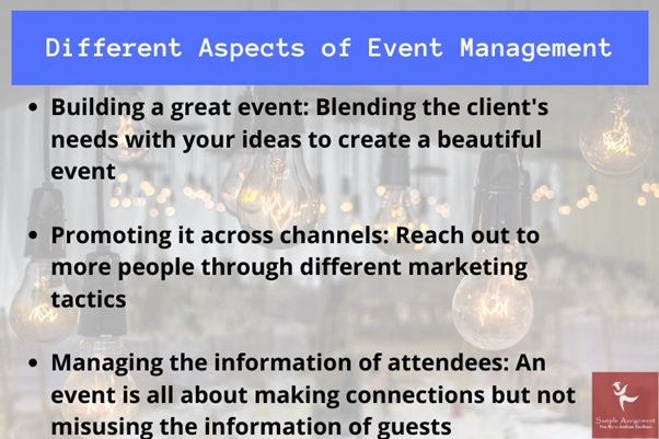 different aspects of event management