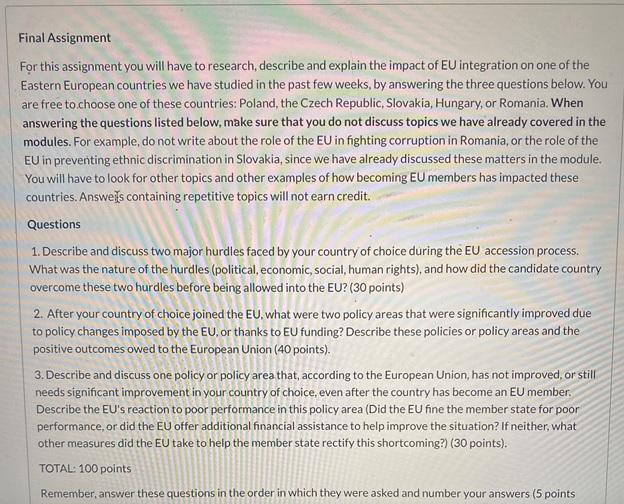 european dissertation question