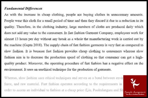 fashion essay Sample online