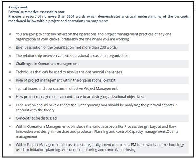 organizational behavior assignment question