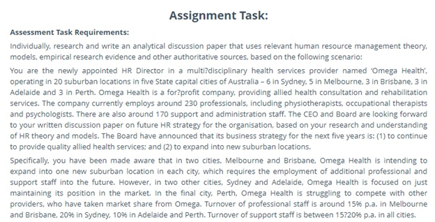 hrm assignment task help