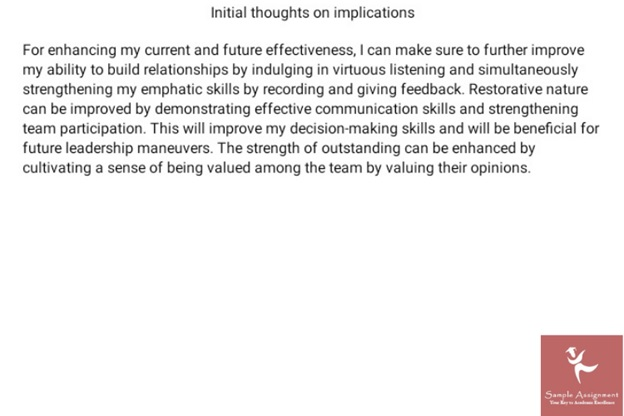 leadership assignment solution