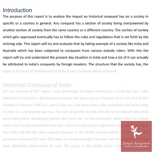 indigenous history assignment sample