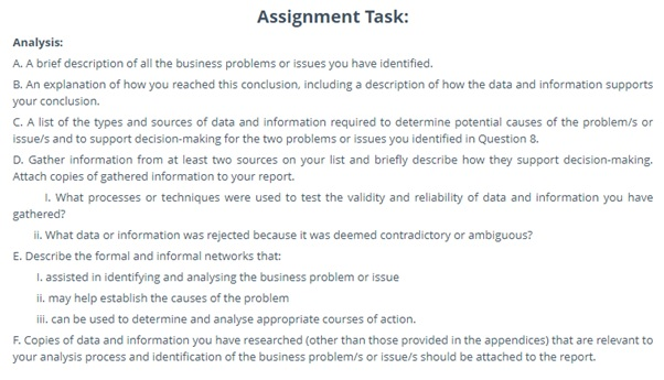 BSBINM601 assessment question