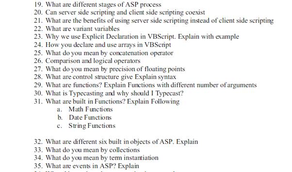active server pages homework sample