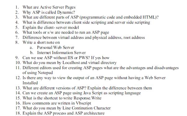 active server pages homework