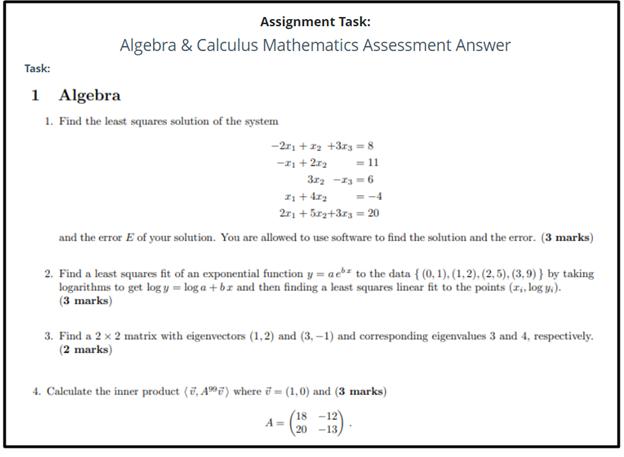 advanced math homework sample online