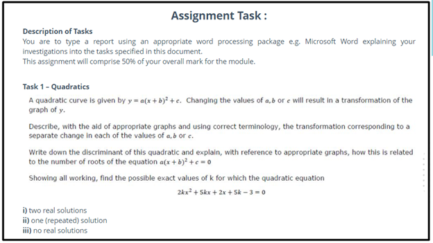advanced math homework sample