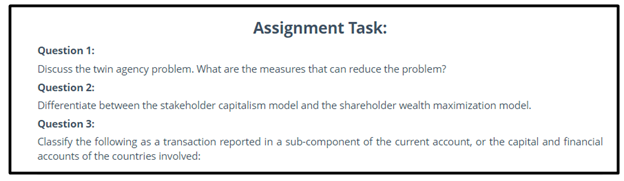 arbitrage assignment sample online