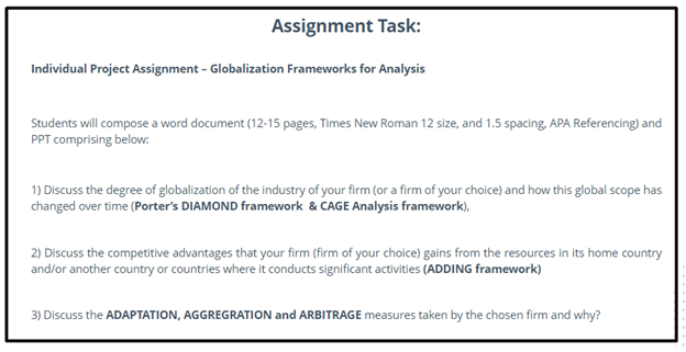 arbitrage assignment sample