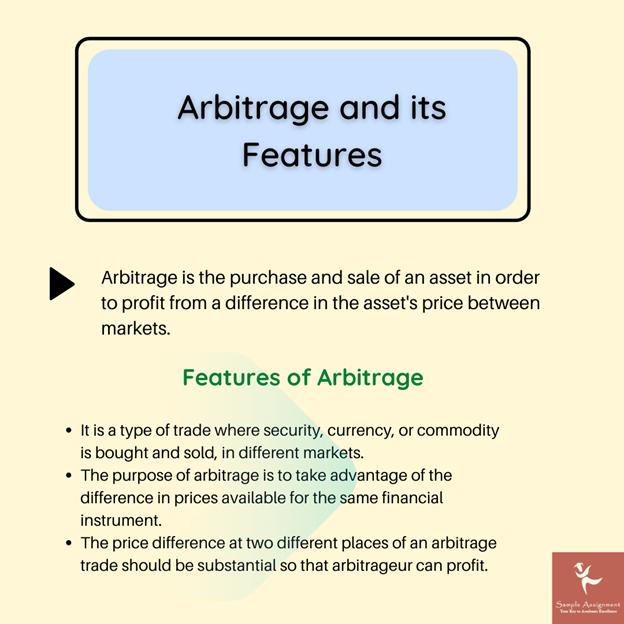 arbitrage features