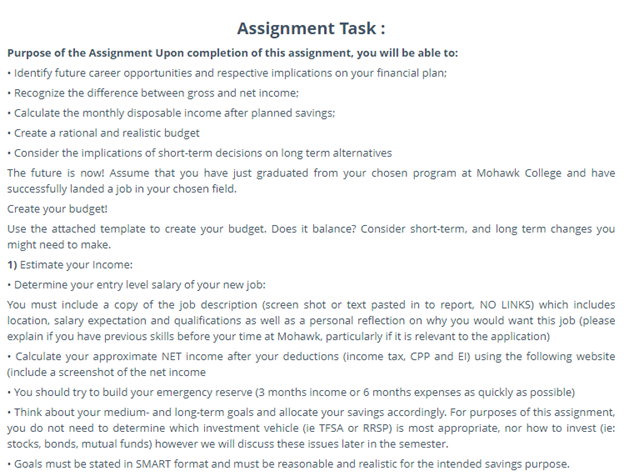 assignment task for hamilton