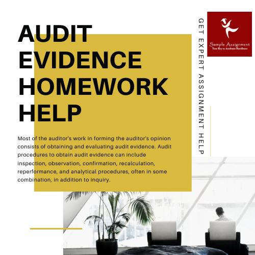 audit evidence homework help