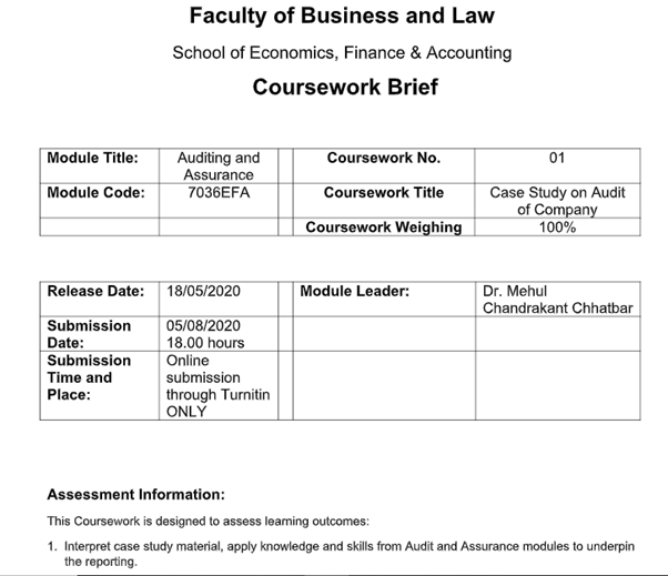 audit evidence homework