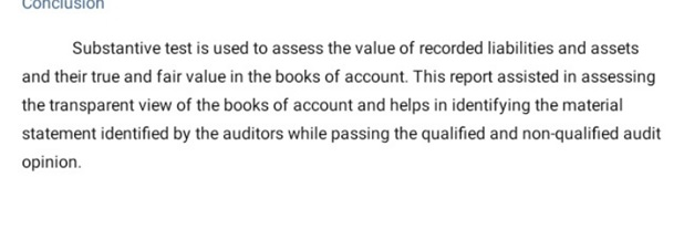 auditing assignment example