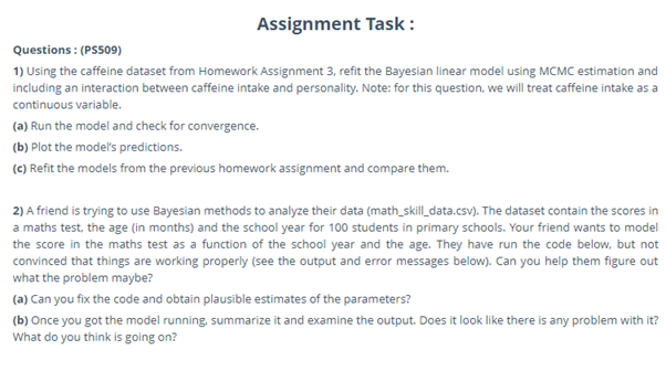 bayesian estimation homework task