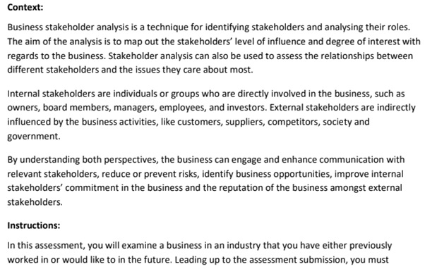 business environment assessment help