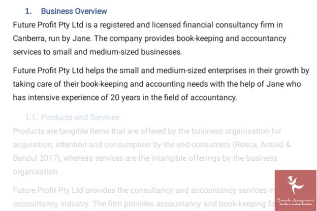 business plan homework sample