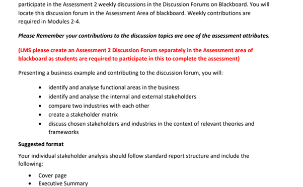 business report assignment sample
