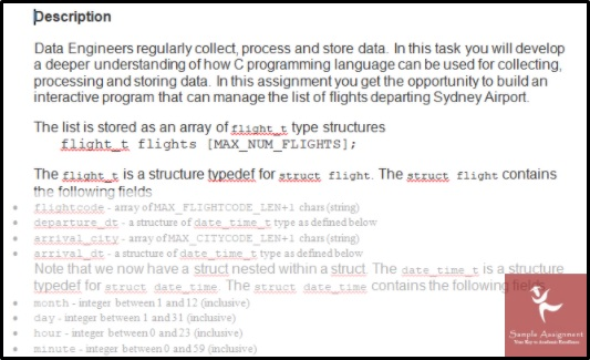 c programming sample