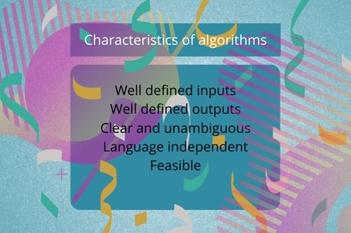 characteristics of algorithms