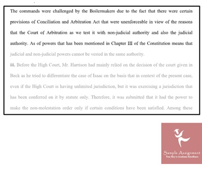 constitutional law assessment answer