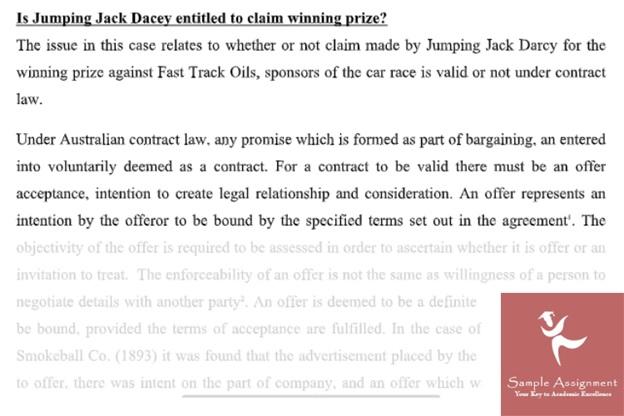 contract law homework online