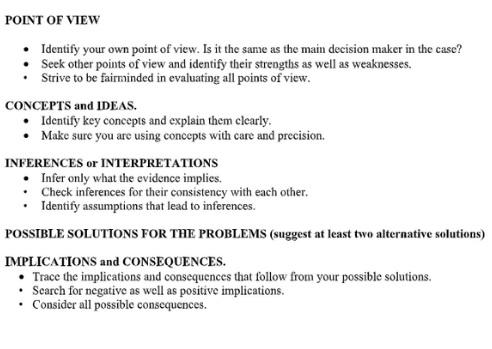 critical thinking assessment help