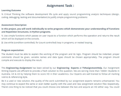 critical thinking assignment task