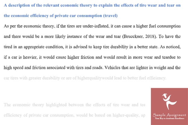 economics homework sample