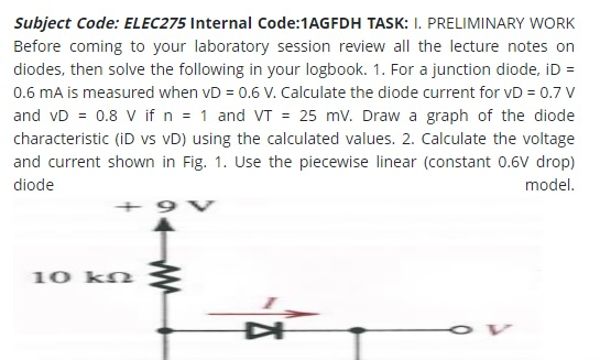 electrical assignment example