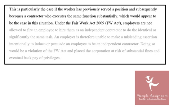 employment law assignment sample