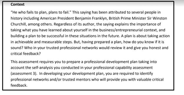 entrepreneurship and small business development homework solution