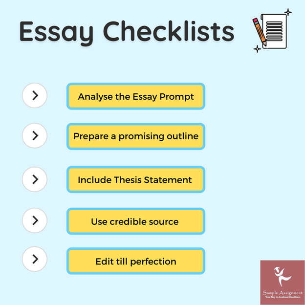 essay checklists