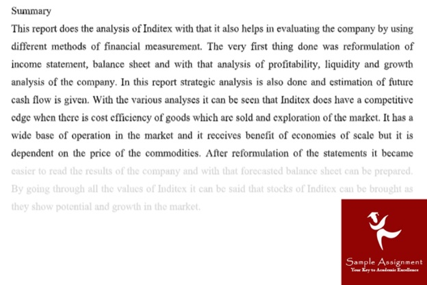 Financial Statement Analysis Assignment Sample