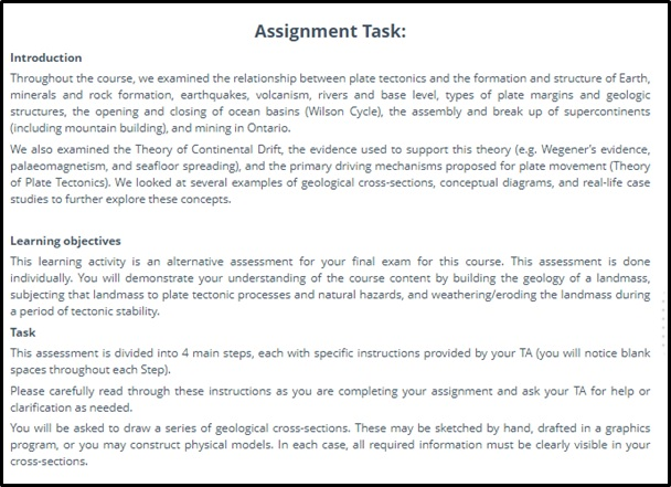 geology homework help canada