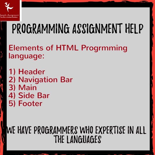 html programming elements