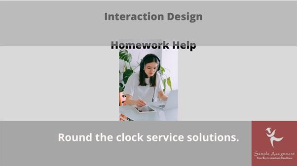 interaction design homework help