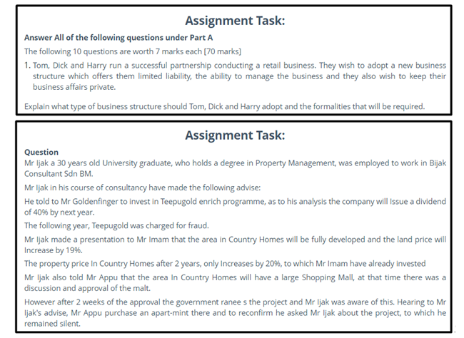law school assignment sample