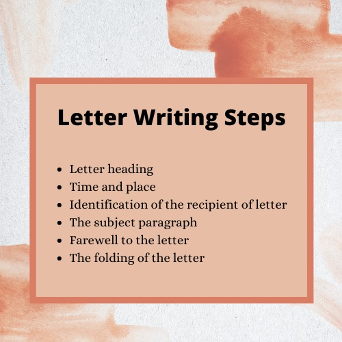 letter writing steps