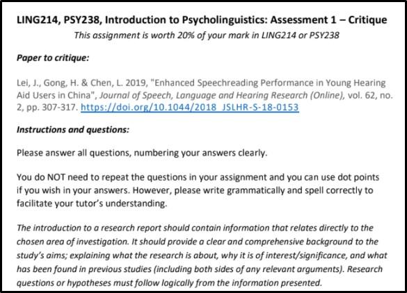 linguistics homework help