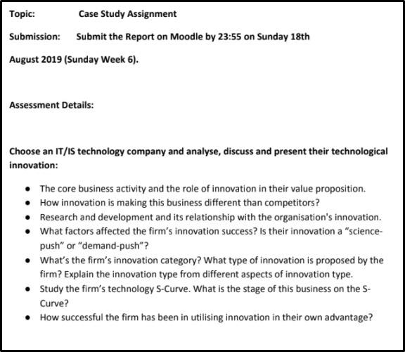 management of technology innovation