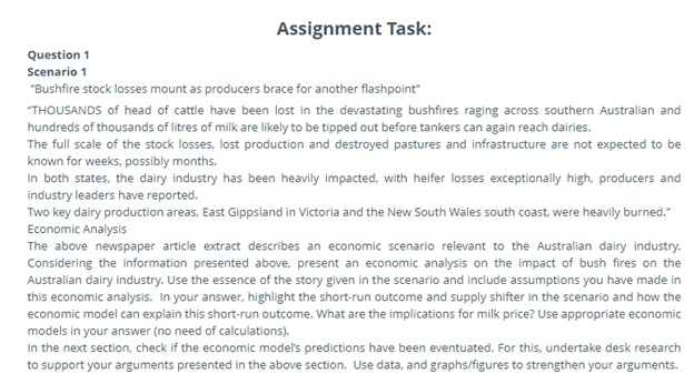 microeconomics assignment