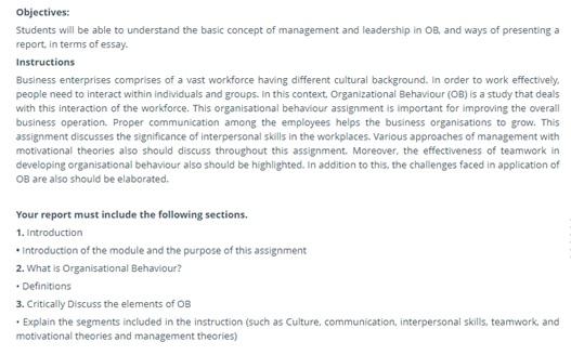 organizational behavior case study help