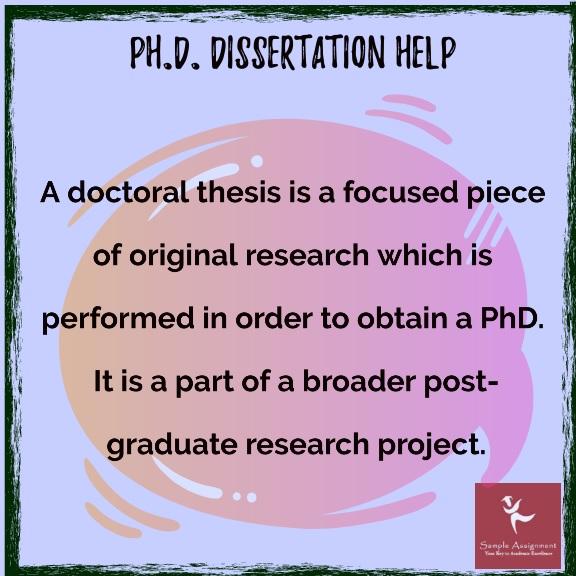 phd dissertation help