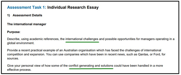 research essay question