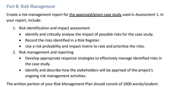 risk management assessment answer